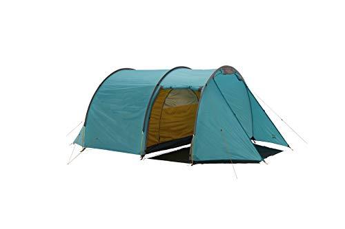 Grand Canyon ROBSON 4 - tienda de túnel para 4 personas, ultraligera, impermeable, tamaño pequeño, tienda para trekking, camping, exterior | Blue Grass (azul)