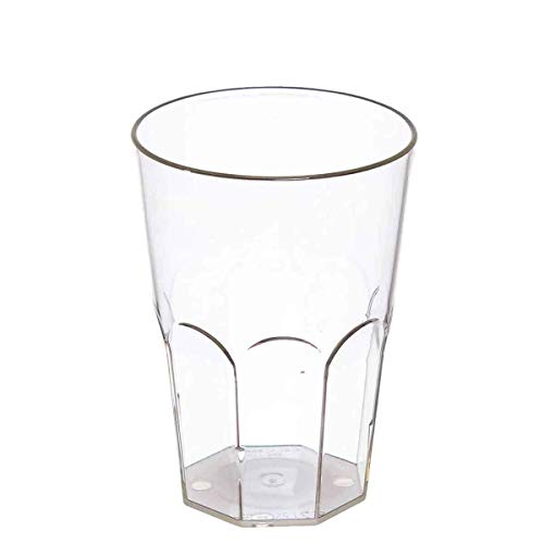 POLOPLAST Lot de 20 Verres à Cocktail en Verre Transparent de 400 CC, Verres Kristal pour Cocktail Granite Frappe Long Drinks