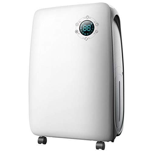 Lowest Prices! DW&HX Portable Electric Dehumidifier, Compact Safe Energy Saving Mid Size Dehumidifie...