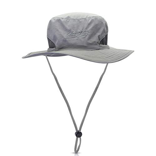 DORRISO Unisex Sombrero de Sol Hombres Mujer Sombrero para el Sol Anti-UV Vacaciones Viaje Playa Gorro de Pesca,54-62CM