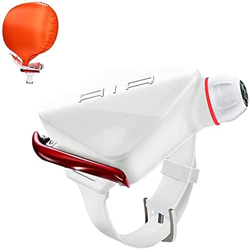 WSVULLD Pulsera de Flotador, Dispositivo de autoayuda de autoayuda Airbag de autoayuda Dispositivo de Seguridad de natación Inflable para Adulto, niños Negro-oxygenx2