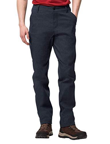 Jack Wolfskin Herren WINTER TRAVEL PANTS elastische Softshellhose, midnight blue, 102