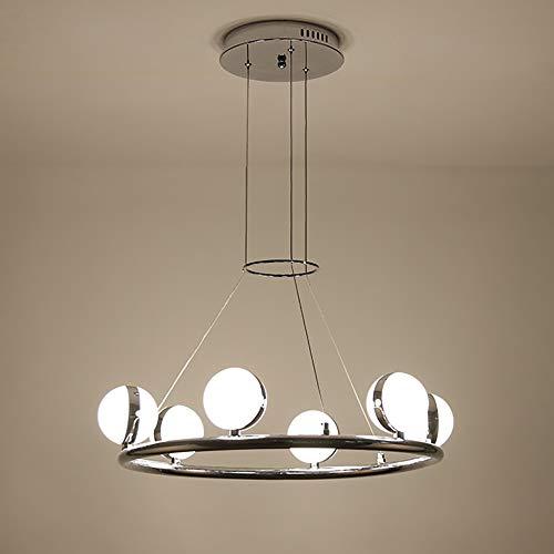 DC Wesley Iluminación Colgante Bola Moderna LED Redonda de Plata de Hierro + acrílico Dormitorio Sala de Estar Estudio Estudio lámpara/lámparas