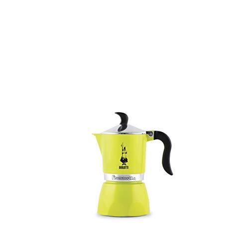 Bialetti Fiammetta, cafetera de aluminio color lima fluo, 1 taza