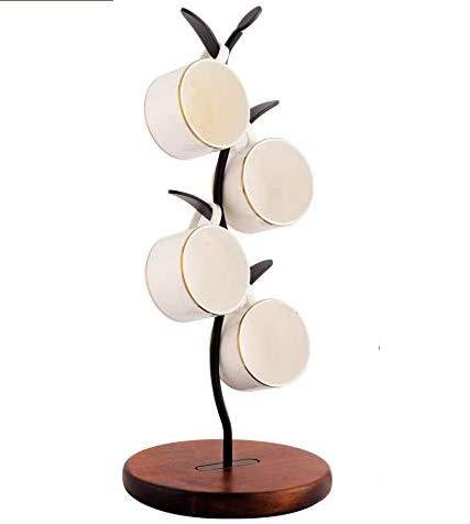 Soporte creativo para árbol de taza colgante de drenaje, estilo minimalista, diseño extraíble, seis ganchos para ahorrar espacio, adecuado para cocina y sala de estar