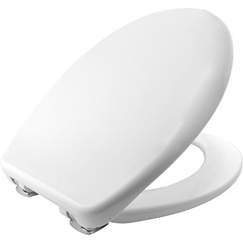 Venezia STA-TITE Asiento para inodoro Universal con cierre lento, color blanco