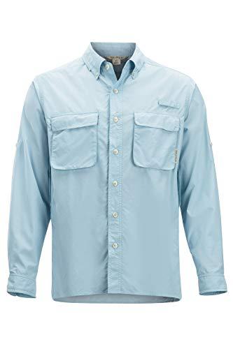 ExOfficio Men's Air Strip Long Sleeve, Air Blue, Large
