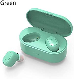 FairOnly M2 Blueteeth Earphone 5.0 True Wireless Headphones With Mic Handsfree Stereo Sound Universal Headset For iP-ho-ne Sam-sung Xiao-mi Cellphoes Green Electronics