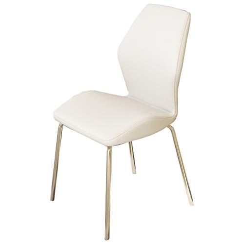 SYFO Silla Simple Mesa de Comedor y sillas para Adultos en casa Silla de Hierro Forjado Hotel Restaurante discusión Silla Dos para la Venta Taburete (Color : White×2)