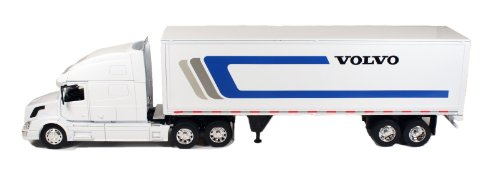 Newray Volvo Tractor and Trailer VN-780 1/32 Scale Pre-Built Model Semi Truck White