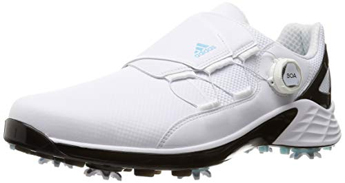 ADIDAS ZG 21 Boa, Zapatos de Golf Hombre, Blanco/Negro/Sky, 41 1/3 EU