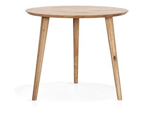 moebel-eins ASCON Esstisch, rund, Material Massivholz, Wildeiche, 90 cm