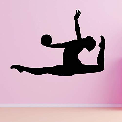 Tianpengyuanshuai Rhythmische Gymnastik Ball Sprung Wandaufkleber Sport Wandtattoo für Jungen Schlafzimmer Home Wohnzimmer Dekoration Gym Dekoration 45x31cm