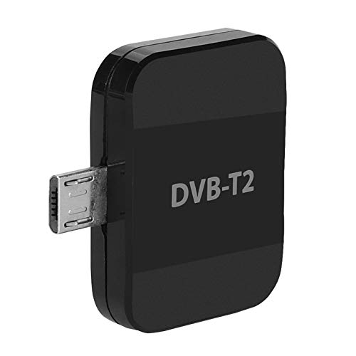 FOLOSAFENAR Stick Micro USB DVB-T2 Receptor de TV Receptor de TV inalámbrico Digital Inalámbrico DVB-T2 Alta sensibilidad, para teléfono Android/Tablet PC/Notebook