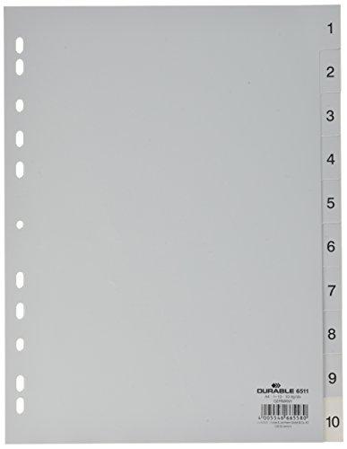Preisvergleich Produktbild Durable 6511 10 Zahlenregister - PP,  1-10,  A4,  10 Blatt
