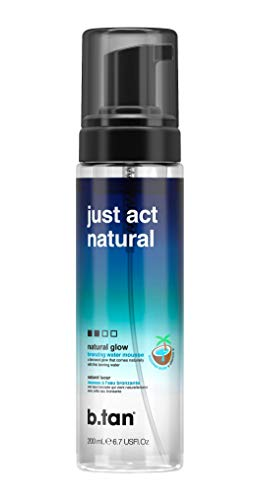 b.tan Self Tan Bronzing Water - Just Act Natural - Enriched With Coconut Water & Vitamin E, 6.7 Fl oz