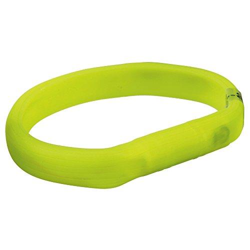 Trixie 12684 Flash Leuchtband USB, M–L: 50 cm/18 mm, grün