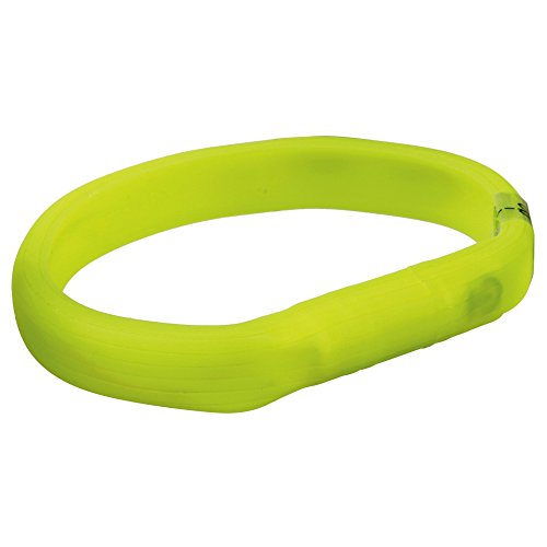 Trixie 12684 Flash Leuchtband USB, M–L: 50 cm/18 mm, grün