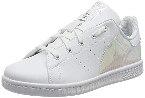 adidas Stan Smith C, Scarpe da Ginnastica, Ftwr White/Ftwr White/Supplier Colour, 35 EU
