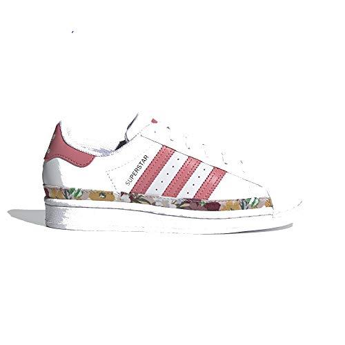 adidas Superstar C, Deportivas, FTWR White Hazy Rose Hazy-Zapatillas, 31.5 EU