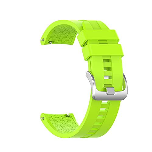 Silicona Correa Reloj De Reloj para Samsung Galaxy Watch 3 45mm / Engranaje S3 / 46mm Banda De Pulsera Sport Reemplazo De La Pulsera Correa (Color : Lime, Size : For 22mm)