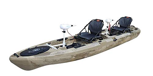BKC Brooklyn Kayak Company PK14 Kayak with Trolling Motor (GreenCamo)
