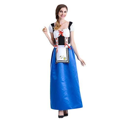 Oktoberfest Damen Kleid Festival Kleidung Kurzarm Trachten Dienstmädchen Rollenspiel Kostüm...