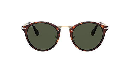 Persol PO3166S Phantos Sunglasses, Havana/Green, 51 mm