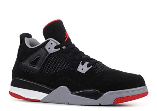 Nike Jordan 4 Retro BRED (PS) Black/Fire Red-Cement Grey 1Y/32 EU