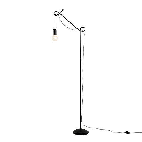 Lámpara de pie 'Jorna' (Diseño) en Negro hecho de Metal e.o. para Salón & Comedor (1 llama, E27, A++) de Lucande   lámpara de pie de diseño