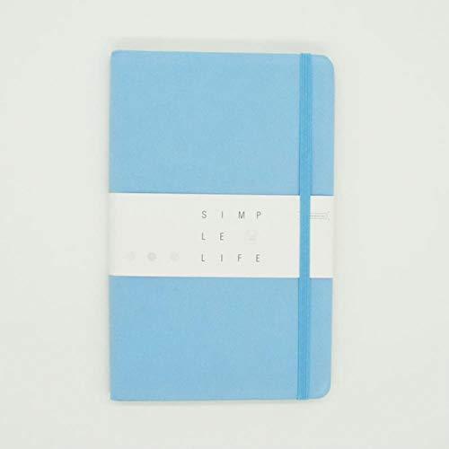 Bullet Journal Für Planungsziel Gepunktetes Notizbuch A5 Stoffhülle Bullet Journal 96 Blatt 5 Farben Büro & Schulbedarf Planer, SkyBlue, A5