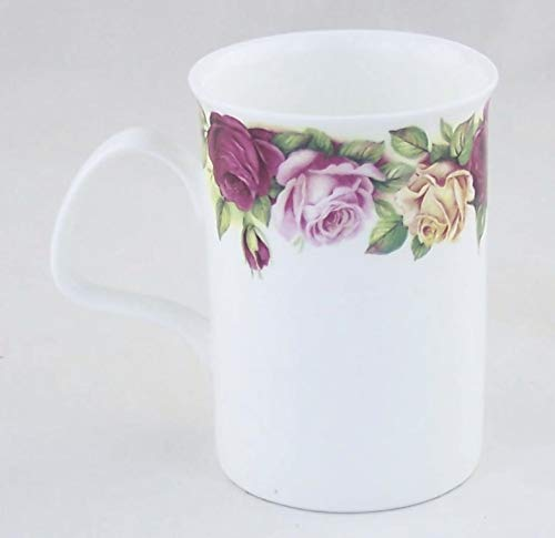 Garden Rose - Fine English Bone China Mug - Made in England by Roy Kirkham Fine China