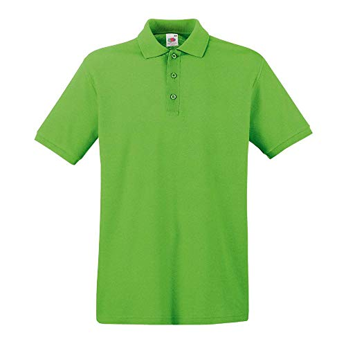 Fruit of the Loom - Premium Poloshirt / Lime, 3XL