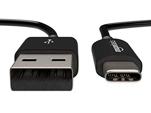 Amazon Basics USB Typ C auf USB A 2.0 Kabel, 0,9 Meter, Schwarz