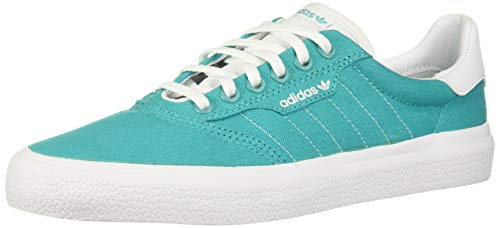 adidas Originals Men's 3MC Regular Fit Lifestyle Skate Inspired Sneakers Shoes, hi-res aqua/White/White, 14 M US