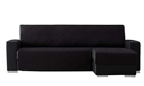 T&R Funda Chaise Longue Acolchada Laia Negro 240 cm