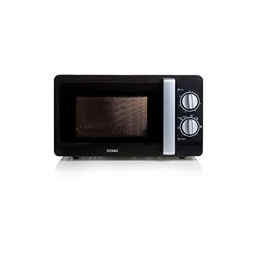 DOMO DO2420 Mikrowelle mit 30 Minuten Timer 20 Liter Volumen schwarz