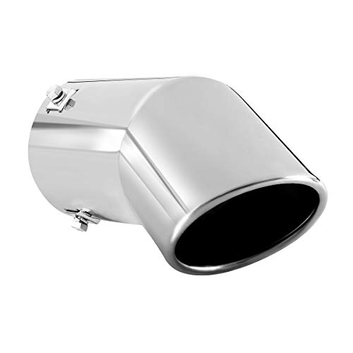 Exhaust tip - to Fit 2.75 to 3 Inch Exhaust Tail Pipe Diameter- Stainless Steel to give Chrome Effect - Car Muffler Tips