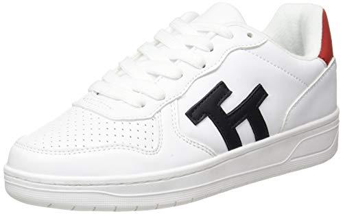 TOM TAILOR Damen 1193102 Sneaker, White-Navy, 40 EU