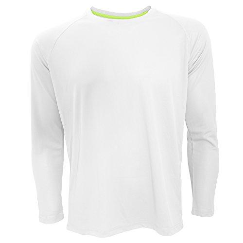 Active by Stedman - T-Shirt à Manches Longues - Homme (2XL) (Blanc)