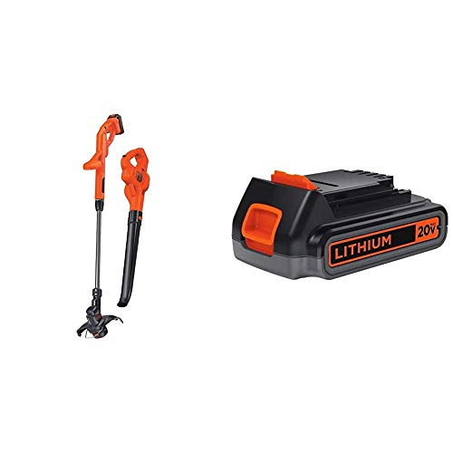 Discover Bargain BLACK+DECKER 20V MAX Lithium String Trimmer/Edger Plus Sweeper Combo Kit with Extra...