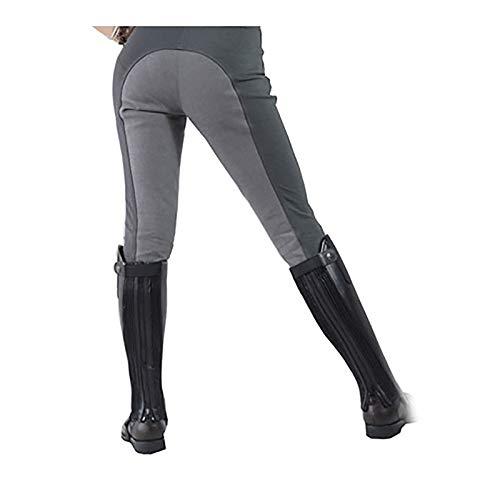 OMKMNOE Pantalones, para Mujeres, Leggings Completo Torneo Pantalones Montar Caballo Estilo Grip High Cinturonal Pegamentos Ribete Completo Pantalones Arroz Pantalón Elástico Pierna,28