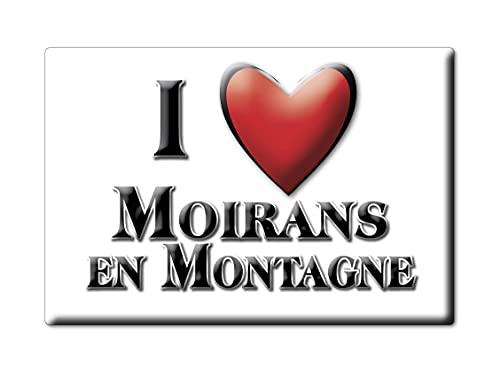 Enjoymagnets MOIRANS EN Montagne (39) CALAMITA Magnete Francia Souvenir I Love Idea Regalo