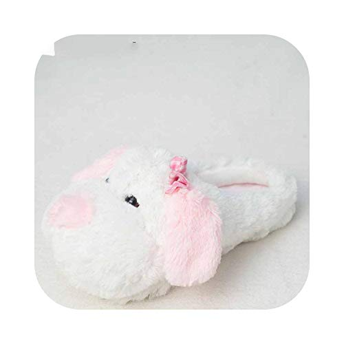 Plüsch-Pantoffel, Winter-warme Weiche Innen-Boden Hausschuhe Damen Herren Kinder Schuhe Paw Funny Animal Weihnachtsplüsch Startseite Schuhe Hundehausschuhe, Rosa, 6, Weibliche Hausschuh
