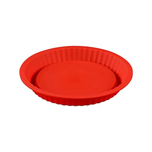 Silikonbackformen BPA Frei Tortenbodenform Obstbodenform Tarteform Backform Kuchen Backform Silikon Rund Backform Quicheform Brotbackform Kuchenform Benutzt für Quiche Pizza Tarte Kuchen Form