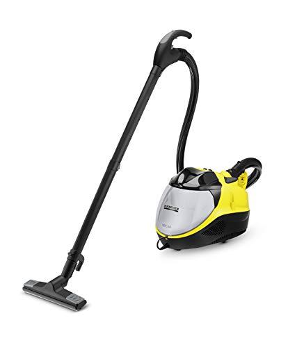Kärcher Dampfsauger SV 7 (Leistung: max. 2200 Watt, Aufheizzeit: 5 min, Dampfen Saugen und Trocknen in einem Arbeitsgang, mehrstufiges Filtersystem, für alle Hart- und Teppichböden geeignet)