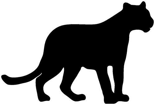 Samunshi® Panther Tier Aufkleber Autoaufkleber Sticker für Auto Motorrad Wohnmobil Scheiben in 8 Größen und 25 Farben (10x6,7cm schwarz)