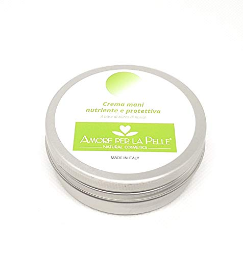 MADE IN ITALY - Crema mani naturale protettiva e riparatrice, non unge, ingredienti bio, a base di burro...