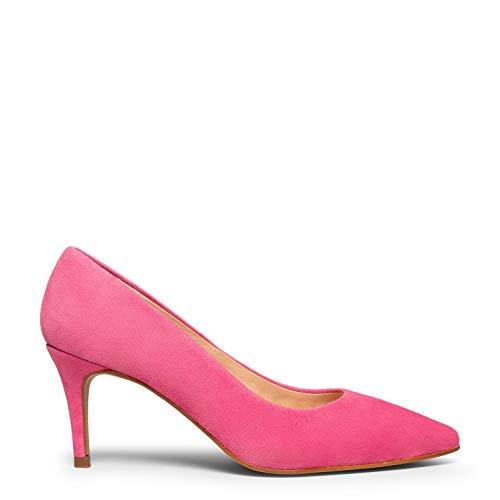 Stiletto Zapato Elegante con tacón Fino Rosa Chicle