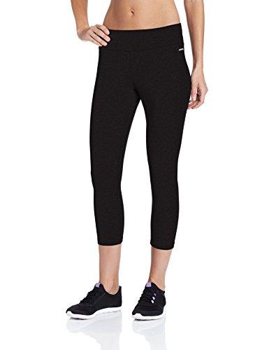Jockey Womens Capri Legging with Wide Waistband Deep Black 1X